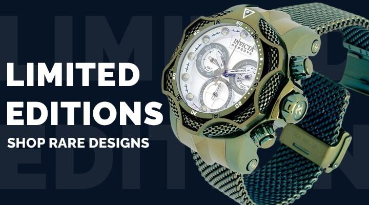 685-265 Invicta Reserve Men's 52mm Venom Chain Diamonds & Ice or Mint Limited Edition Swiss Quartz Watch