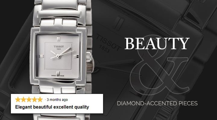 688-704 Tissot Women's Rectangular T-Collection Swiss Made Quartz Bracelet Watch