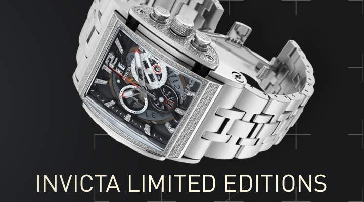 Invicta Limited Editions - 680-673 Invicta Shaq 47mm Speedway Beast Limited Edition Swiss Quartz 3.27ctw Diamond Watch w 8-Slot DC