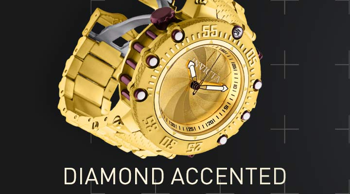 Diamond Accented - 676-859 Invicta 52mm Subaqua Noma VII Shutter Limited Edition Swiss Quartz 0.10ctw Diamond Bracelet Watch