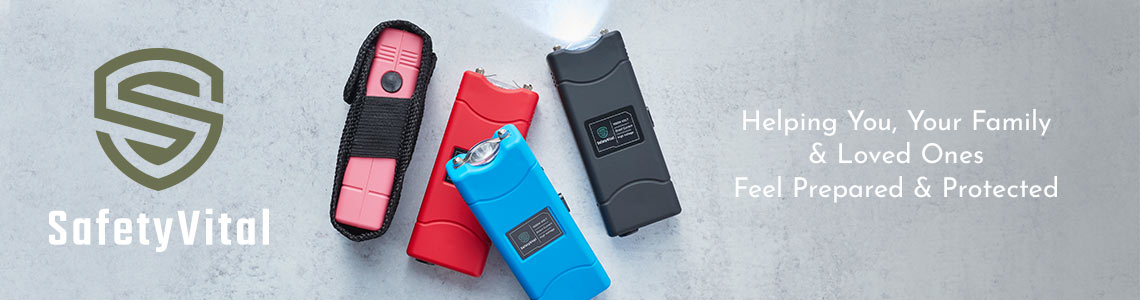 003-791 SafetyVital Lightweight Stun Gun w LED Flashlight