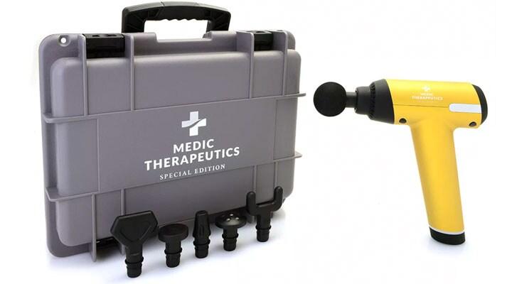 003-485 - Special Edition Handheld Massage Gun w Impact Case & 6 Attachments