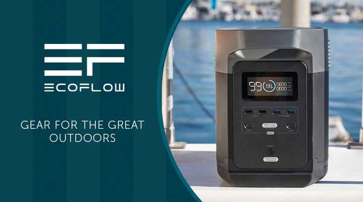 506-757 EcoFlow Delta 1260Wh Portable Power Station w Solar Charging Cable