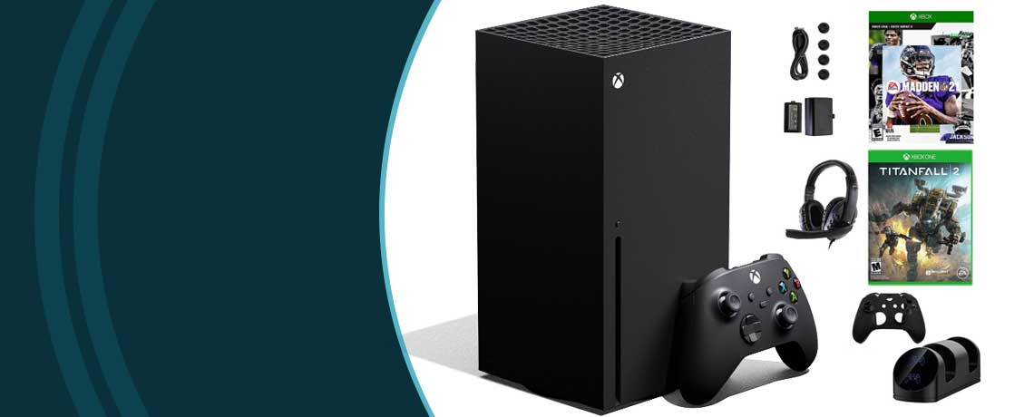 501-387 - Xbox Series X 1TB Console w Madden 21 Game, Titanfall 2 Game & Accessories