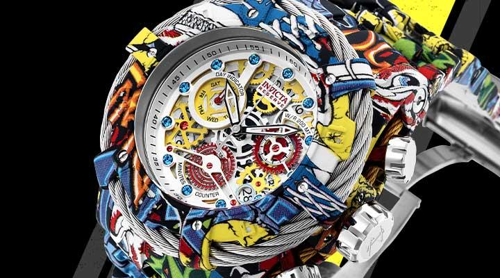 682-705 Invicta Men's 52mm Grand Bolt Zeus Graffiti Swiss Quartz Hydroplated Watch