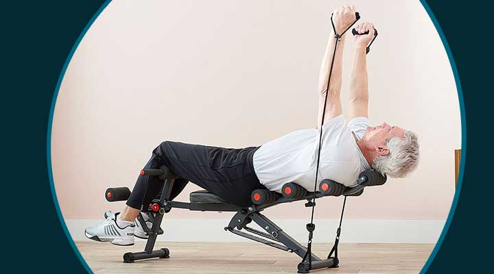 003-886 Medic Therapeutics At-Home Portable Total Body Workout System w Resistance Bands