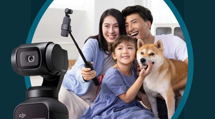 483-410 DJI 5 Osmo Pocket 4K Digital Camera & Gimbal Stabilizer