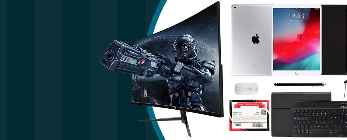506-382 Apple® iPad 10.2 8th Gen 32GB or 128GB Wi-Fi Tablet w Keyboard & Accessories