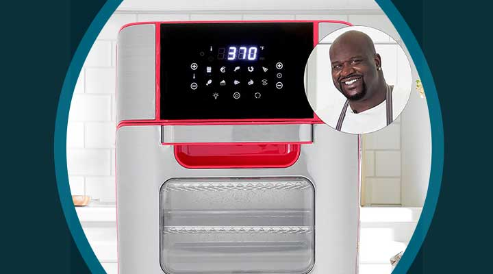 489-290 SHAQ 12 qt 1700W 7-in-1 Stainless Steel Digital Air Fryer Oven Pro