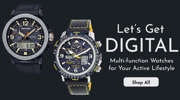 648-075, 676-083 Let's Get Digital Multi-function Watches for Your Active Lifestyle